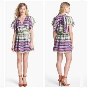 Parker Flora Silk Wrap Dress